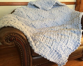 Chunky Basketweave Throw Blanket