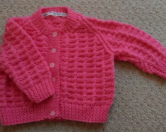 Pretty salmon pink cardigan