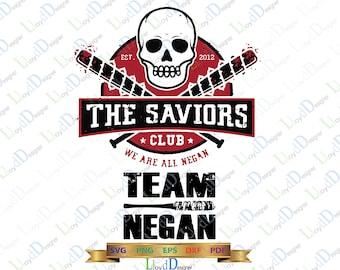 The Walking Dead SVG Walking dead Negan svg The Saviors Walking Dead DXF Shirt Negan lucille bat svg Team Negan dxf svg eps png cut files