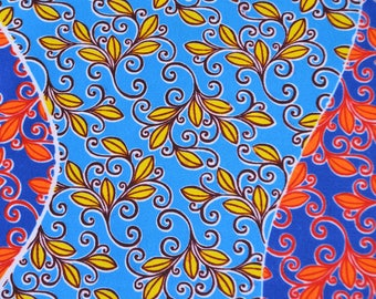 African Print/ Ankara/ 6 Yards/ Blue and Red