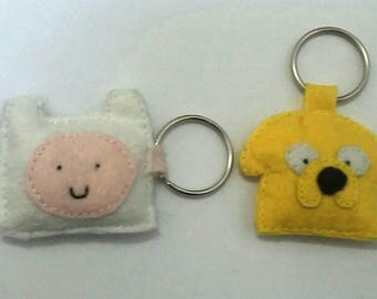 Adventure Time / Finn And Jake / Best Friends / Hand-stitched / Plushie / Keychain