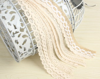 """10 yards Cotton Lace Trim 1-3.5cm Mixed Style  fabric lace accessories , Wholesale-""""10x1"""