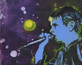 "Ian Curtis 6X6"" painting"