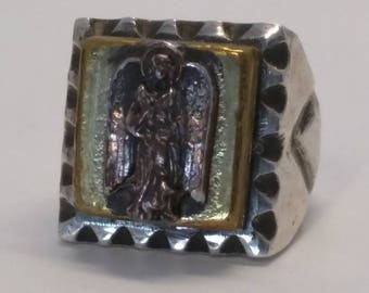 Vintage Angel Souvenir biker ring