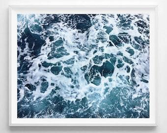 Ocean Print, Ocean Art, Ocean Photo, Waves Photo, Beach Photo, Waves Art, Waves Print, Ocean Wall Art, Ocean Printable, Digital Print