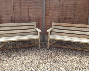 Garden Bench Back and Arm Rests (Various Sizes Available)