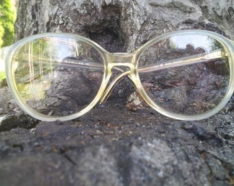 Skaga eyewear / vintage 1980s eyeglasses / made in Sweden / keyhole bridge / children eyeglasses / NOS /