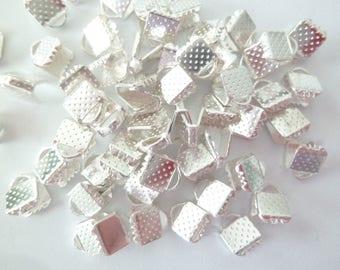 50 jewelry clasps Claw Necklace or Bracelet silver 8x8mm pr