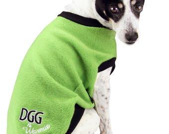 Dog Polar Fleece Jumper Lime Green Design