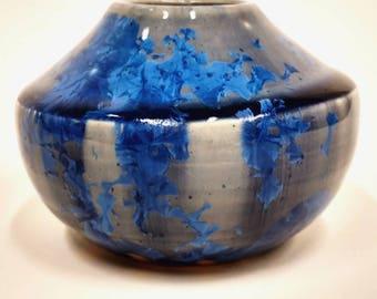 Cobalt blue Crystalline vase