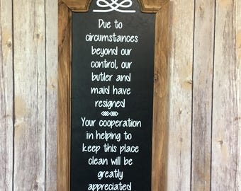 """22"""" x 10"""" framed chalkboard wood sign"""