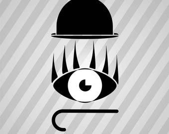 Clockwork Silhouette Hat Eye Cane - Svg Dxf Eps Silhouette Rld RDWorks Pdf Png AI Files Digital Cut Vector File Svg File Cricut Laser Cut
