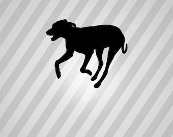 Dog Silhouette Running - Svg Dxf Eps Silhouette Rld RDWorks Pdf Png AI Files Digital Cut Vector File Svg File Cricut Laser Cut
