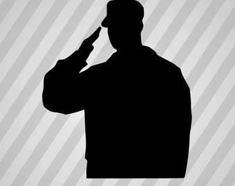 Army Soldier  Silhouette -  Svg Dxf Eps Rld Rdworks Pdf Png Ai Files Digital Cut Vector File Svg File Cricut Laser Cut