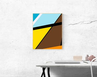 Printable Art, Abstract Art, Color Block, Geometric Art, Instant Download