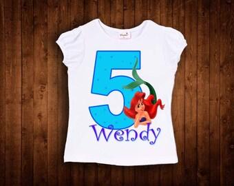 inspired by princess ariel birthday shirt ariel birthday shirt