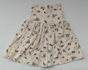 Autumn Leaves Upcycled Grow-With-Me Skirt