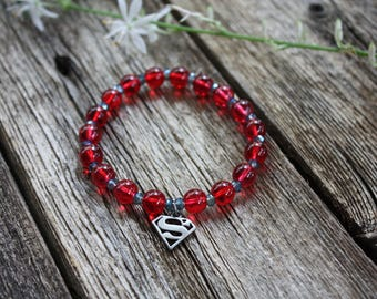 Supergirl Charm Stretch Bracelet