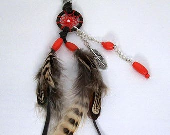 Dream catcher key holder or bag charm