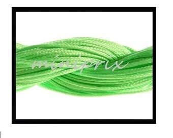 X 5 meters of thread nylon macramé green shamballa.