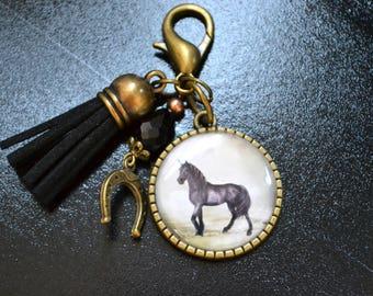 "Bag/door key horse ""Lucky"" charm"