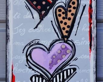 Valentine's day Tableau unique colorful contemporary heart