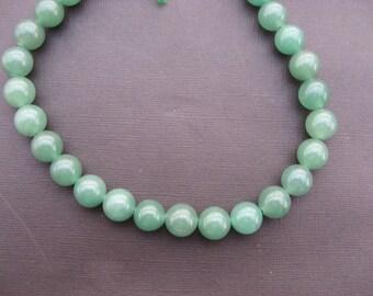 Aventurine: 2 round 14 mm aventurine beads