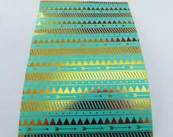 set of 2 cut 15 x 21 cm ethnic repositionable adhesive fabric