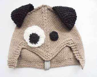 handmade dog hat for little boy in merino wool yarn