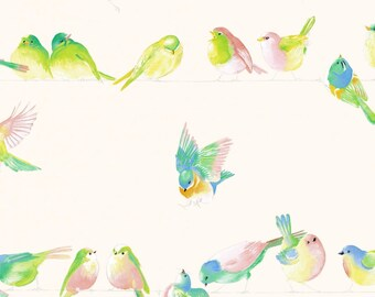 280cm birds happy birds fabric