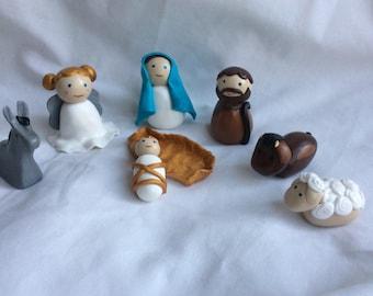 Nativity scene, Angel gabriel characters