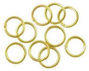 lot 100 rings yellow gold finish jewelry ring 0.7 mm new