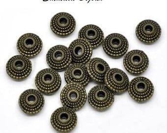 10 pearls in 8 mm bronze metal