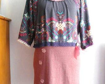 Dress Boho romantic Bohemian women size 40 / M