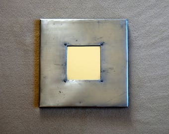 Industrial style zinc - OOAK mirror