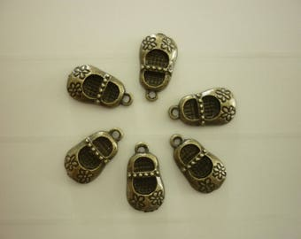 6 charms slipper shoe slipper bronze
