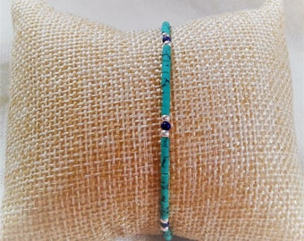 Ethnic bracelet Turquoise gemstones