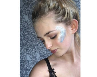 Festival glitters for the face, body, and hair