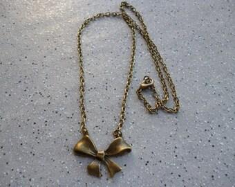 Bronze long knot necklace