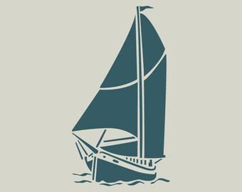 Sailboat. Boat. (Ref 188) adhesive vinyl stencil