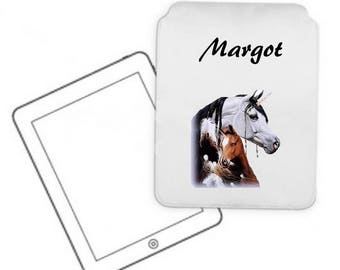 Cover for tablet pc Unicorn personalized with name