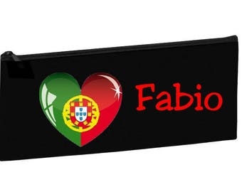 Personalized with name Portugal Black School Kit