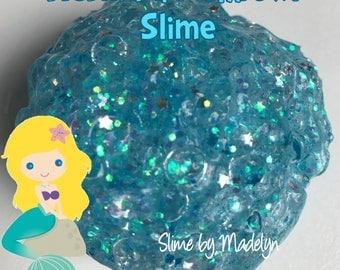 Mermaid Fishbowl Slime ~ Glitter fishbowl slime ~ scented slime