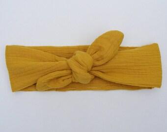 Headband / headband honey double cotton gauze
