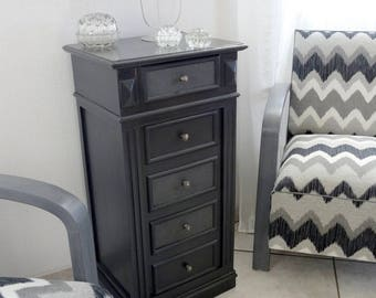 Pedestal style Louis Philippe 1900 - end weathered table - nightstand
