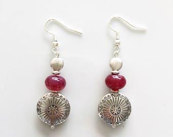 silver plated dangle earrings
