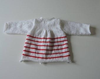 Life jacket baby hand knit wool flared long sleeves (sailor)