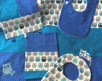 Blanket and baby OWL patterns set