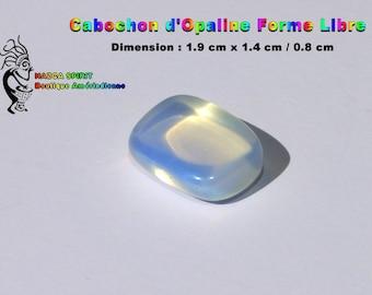 Cabochon Opal Opalescente of irregular shape of 1.9 cm x 1.4 cm / 0.9 cm-item #7