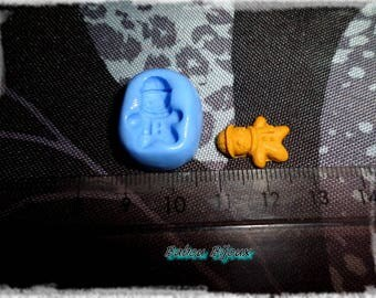 Mold mini gingerbread man 10 x 15 mm for polymer clay